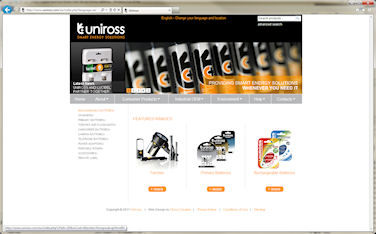 Chaos Created Launches Global Web Site for Uniross Batteries