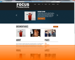 Web design sample - Focus