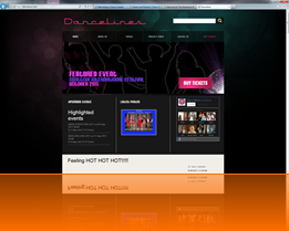 Web design sample - Dancelines
