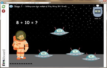 New KS2 Numeracy Space Games from Chaos Created