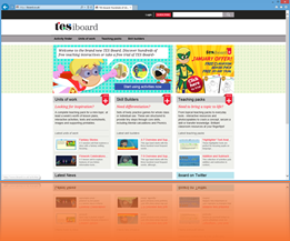 Web design sample - TES