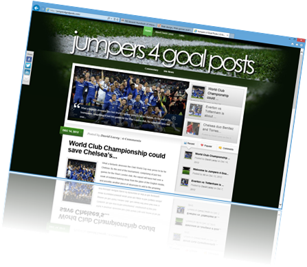 Web design sample - Jumpers 4 Goal Posts