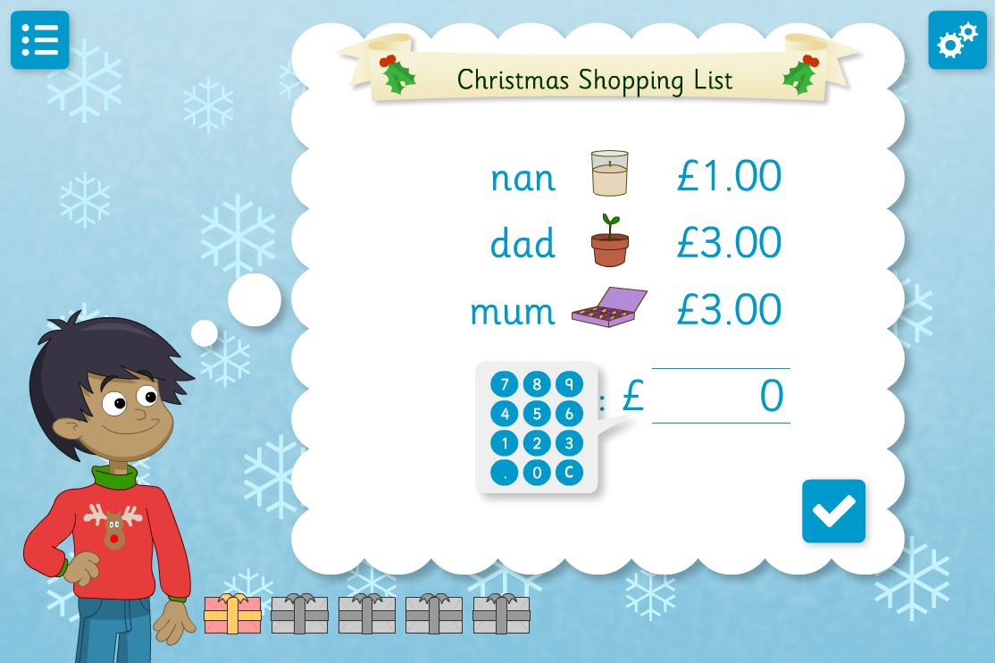 New Christmas Shopping educational activities from Chaos Created