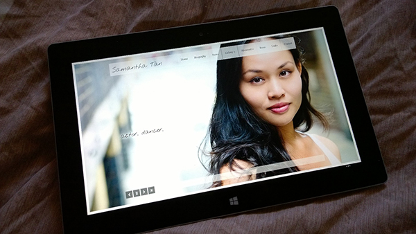 Chaos Created launches new site for actor and dancer Samantha Tan