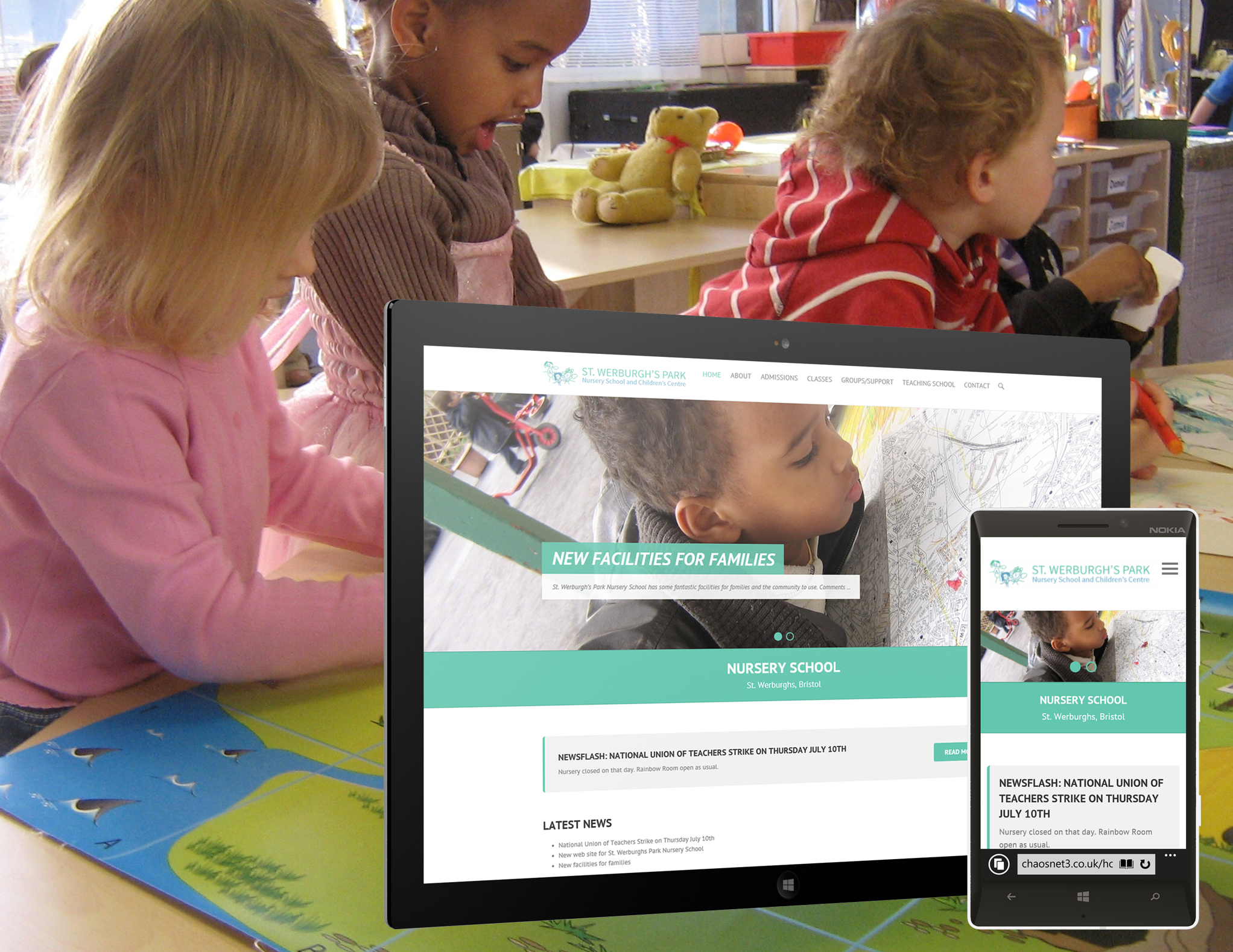 Chaos Created launches new site for St. Werburghs Park Nursery