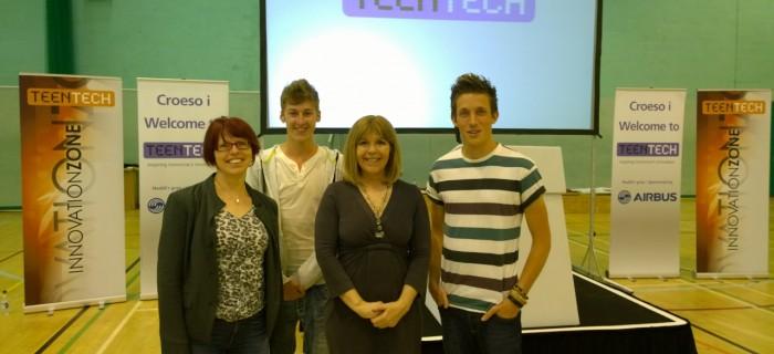 Ali Maggs, Liz Rice, and Maggie Philbin, at TeenTech.