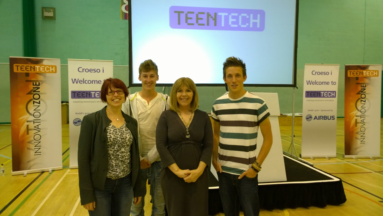 Ali Maggs, Liz Rice, and Maggie Philbin, at TeenTech.