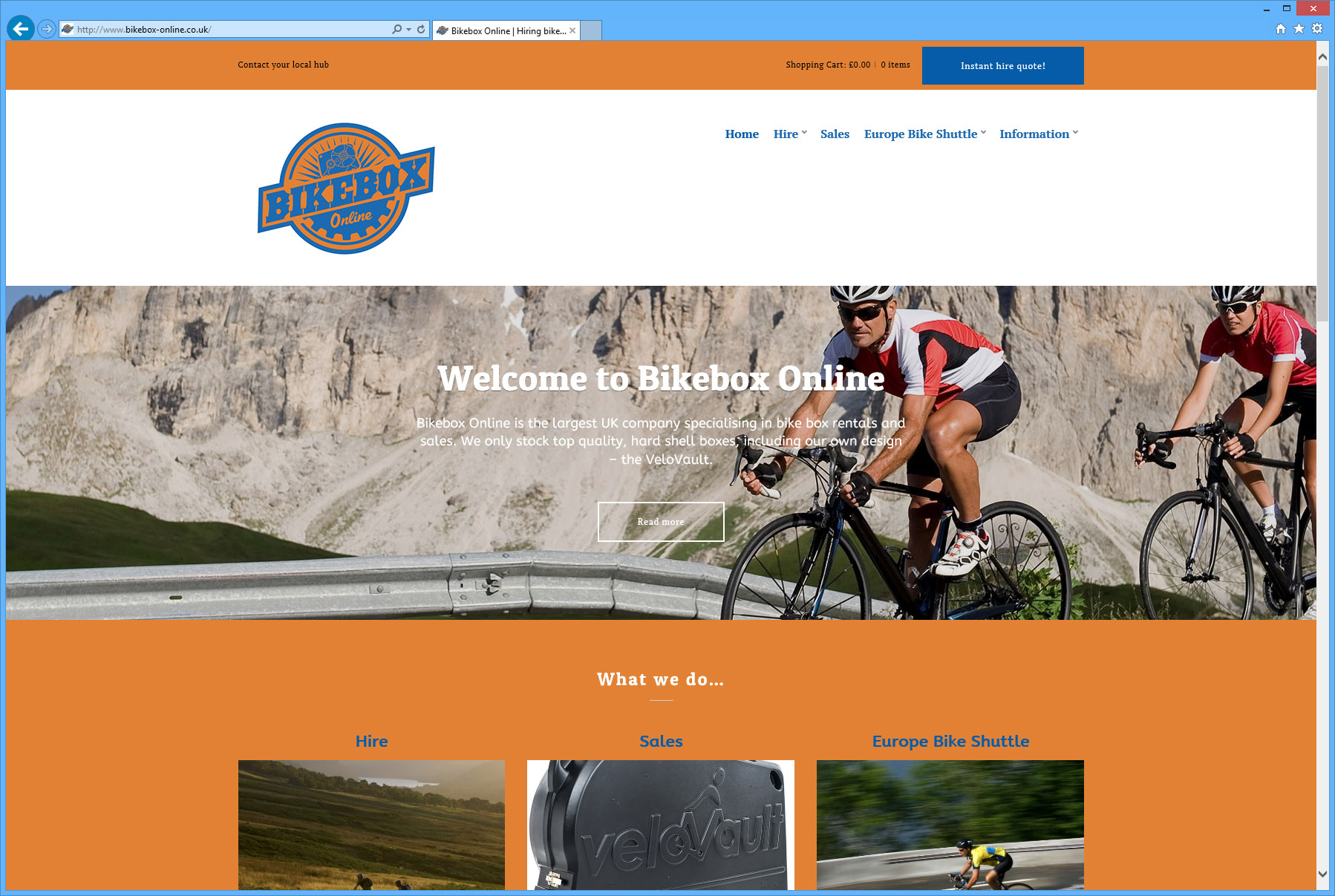 Chaos Created launches new web site for biking innovators, Bikebox Online!