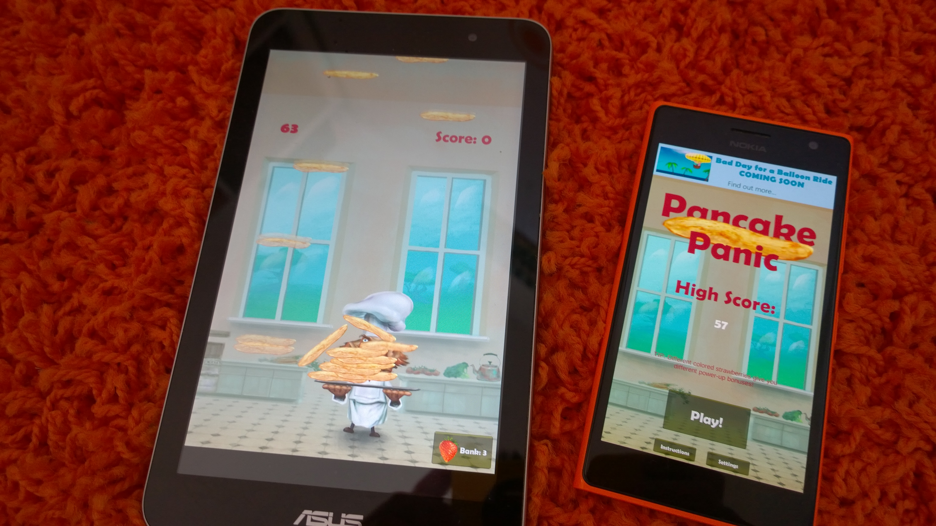 Pancake Panic 2.2 for Android, Windows, and Windows Phone!