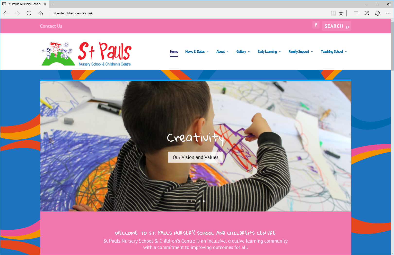 Chaos Created launches new website for St. Pauls Nursery School and Children's Centre