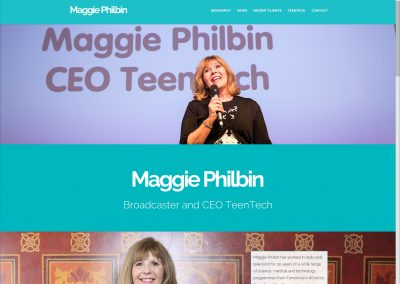 Maggie Philbin's website