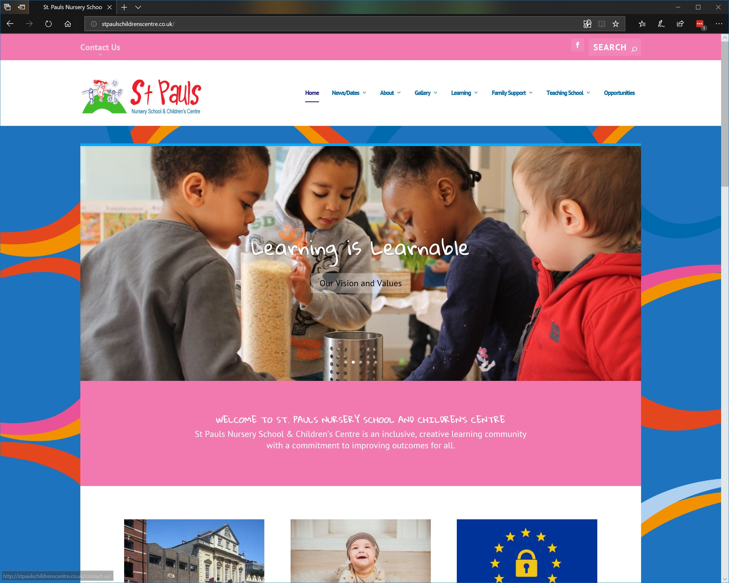 We Developed The Branding And Logo For St Pauls Nursery School Children S Centre Using Their Already Elished Ribbons As A Way To Showcase