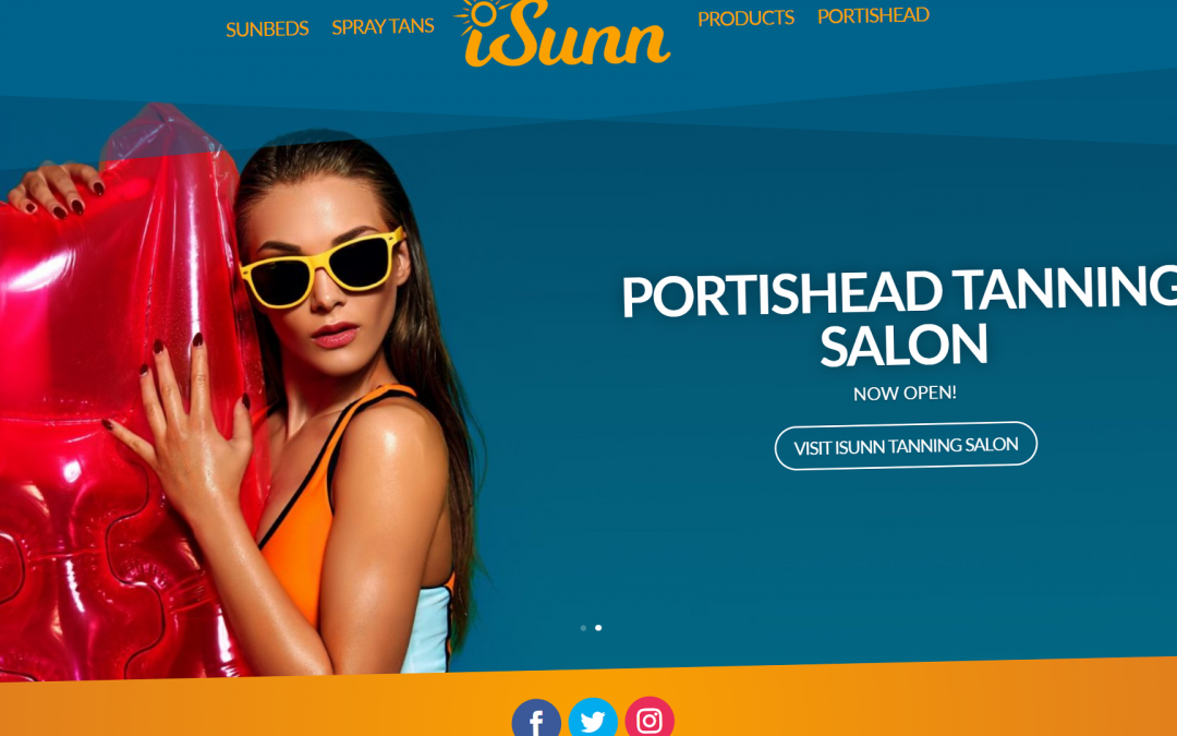 Chaos Created develops iSunn Tanning Salon branding and website to fulfil their vision