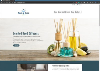 Coast @ Home Website and Online Store
