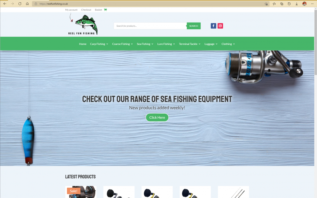 Reel Fun Fishing Website and Online Store