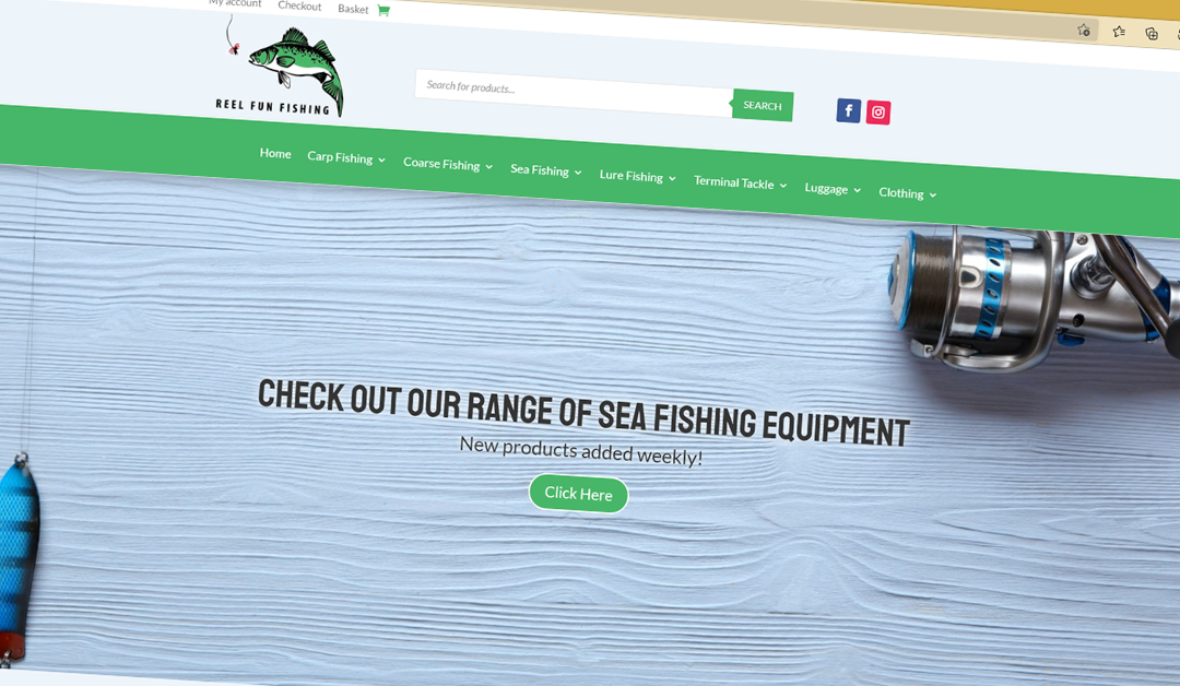 Chaos Created Develops New Website and Online Store for Reel Fun Fishing