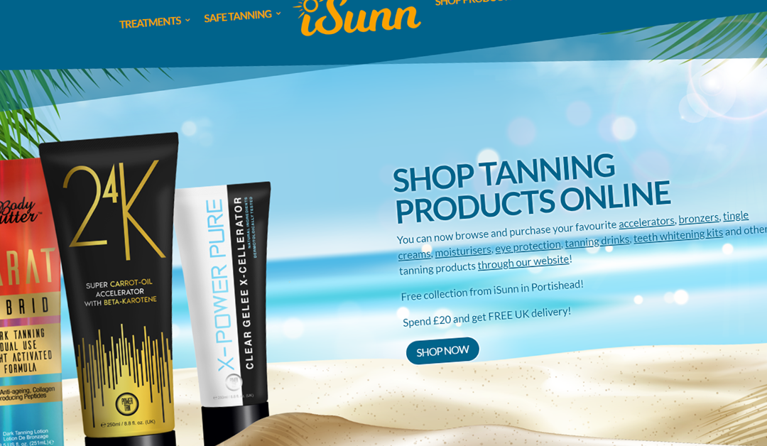 Chaos Created Launches New Online Store for iSunn Tanning Salon