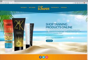 iSunn Tanning Salon online store website